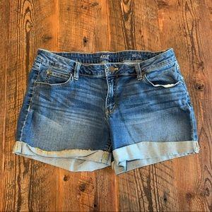 A.N.A. A New Approach Denim Jean Shorts Cuffed 10